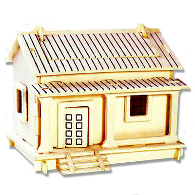 3-D Wooden Puzzle - Small Wafuutaku Building - Gift Item