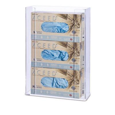 Triple Medical Dental Glove Box Dispenser Holder Clear Acrylic 1 ea
