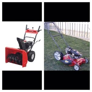 Looking for snowblower and lawnmowers