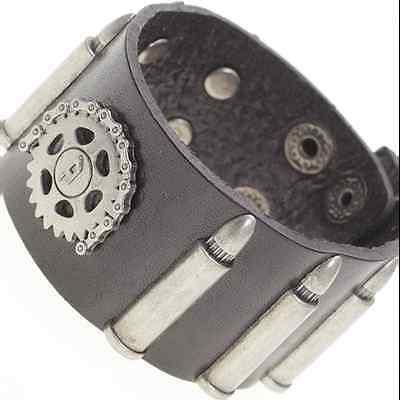 Armband Lederarmband Punk Patronen Zahnrad Gothic 19EM307 (Steampunk Arm)