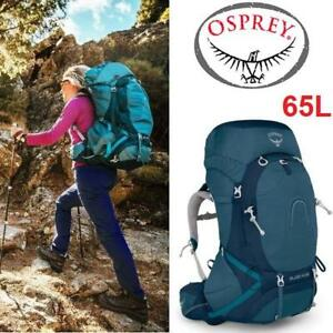 NEW OSPREY AURA AG 65L BAKCPACK WS 1000144 213045385 3783 CU IN BACKPACKING GEAR CAMPING WOMEN'S CHALLENGER BLUE HIKING