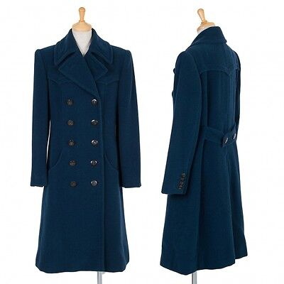 GUCCI Cashmere Blended Angola Wool Coat Size 40(K-48677)