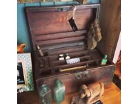 Small antique Indian dowry chest