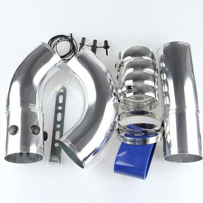 Universal 3 Aluminium Air Filter Turbo Intake Intercooler Pipe Hose Kit Solid