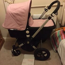 Bugaboo cameleon 3 black and soft pink extendable hood immaculate condition