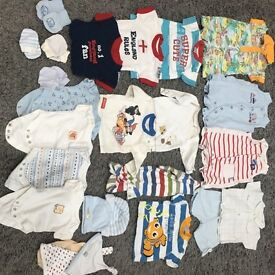 Baby boys newborn clothes bundle