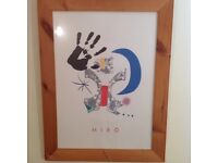 Large modern Abstract Print by Famous Spanish Artist Miro