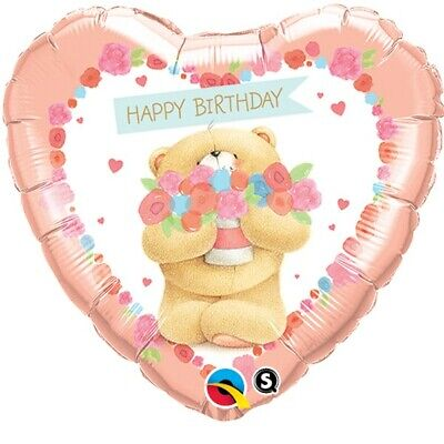 Für Immer Freunde Alles Gute Zum Geburtstag Bär Qualatex 45.7cm Folien Ballon ()