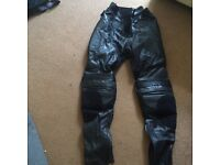Just bikers, genuine leather trousers
