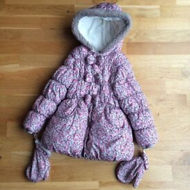 *George floral bow coat age 5-6