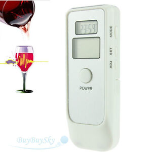 Dual LCD Digital Alcohol  Breathalyzer Tester & LCD Alarm Clock