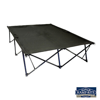 DOUBLE Kwik Cot Folding Portable Outdoor Sleeping Camping Bed