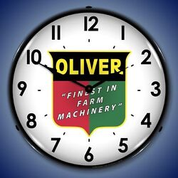 New old fashioned Oliver Finest In Farm Machinery LED LIGHT UP clock
