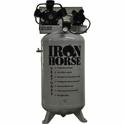 Iron Horse 5-HP 80-Gallon Single Stage Air Compressor (208/230V 1-Phase)