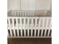 Cot bed with mattress and extras...like new!!!!!