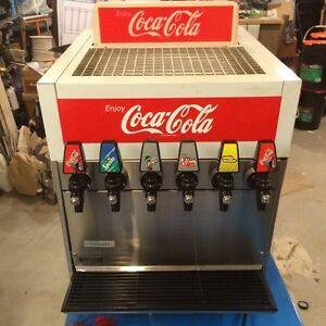 6 Dispenser   Habco Refrigerated Coke Cola Machine