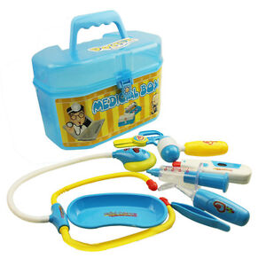 Hospital-Medical-Carry-Box-Pretend-Play-Doctor-Nurse-Role-Kit-Kid-Childrens-Toy