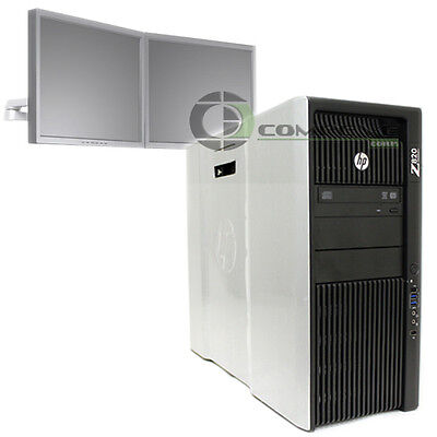 Hp Z820 Workstation E5 2640 2 5Ghz 24Gb Ram 500Gb Hdd 2 Monitor Support Nvs 295