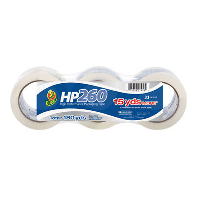 Duck Brand Hp260 Packaging Tape 1.88 In. X 60 Yds. Clear 3-pack