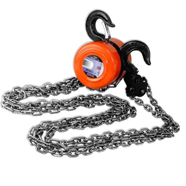 "1 Ton Chain Hoist Puller W/ 2 Hooks | 8"" Long Chain"