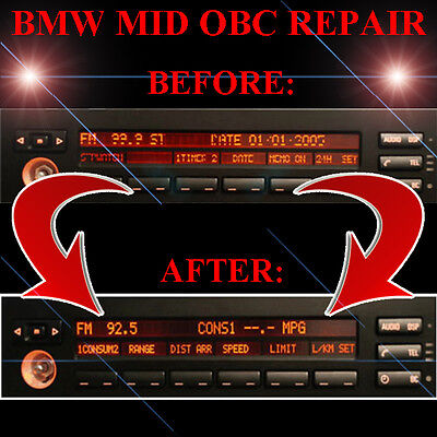 BMW E38 750 750il RADIO STEREO DISPLAY MID OBC - LCD Screen Display Pixel REPAIR