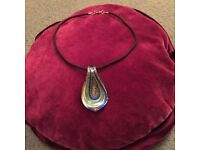 Necklace with Murano glass style pendant