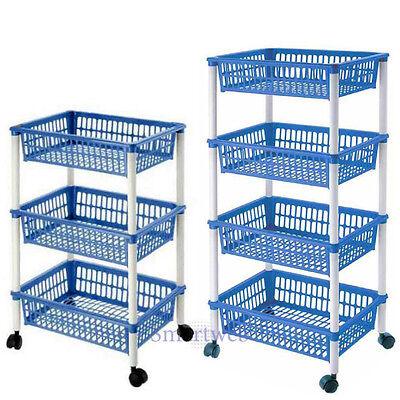 Küchenregal Küchentrolley Obstregal Küchenwagen Küchenschrank Rollwagen Küche - Weiße Küche, Trolley