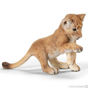 NEW-SCHLEICH-14377-Lion-Cub-Playing-RETIRED