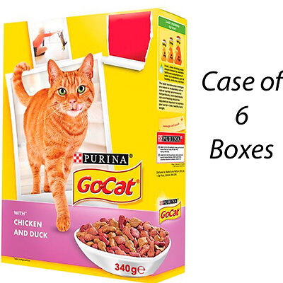 GO-CAT CAT FOOD BISCUITS CHICKEN & DUCK 340g CASE OF 6 BOXES 202396