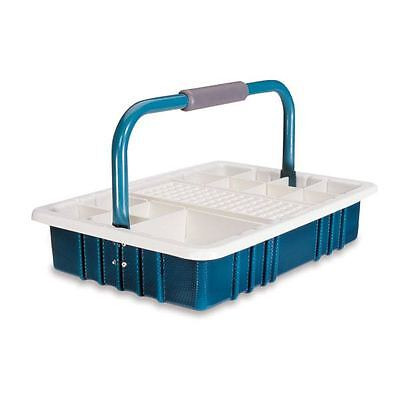 Teal Phlebotomy Tray With 17mm Test Tube Rack 1 Ea
