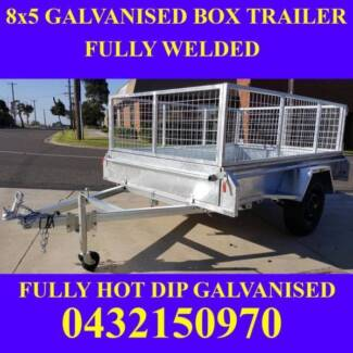 8x5 galvanised box trailer with crate heavy duty 1