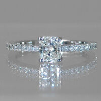 White gold diamond engagement ring 1.75CTW Bague de fiançailles