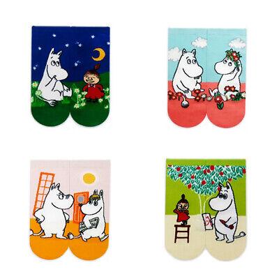 New 4 Pairs MOOMIN Character Socks Women Socks Cute Cartoon Socks MADE IN KOREA