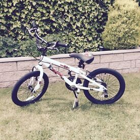 Boys Apollo Force BMX with stand and stunt pegs