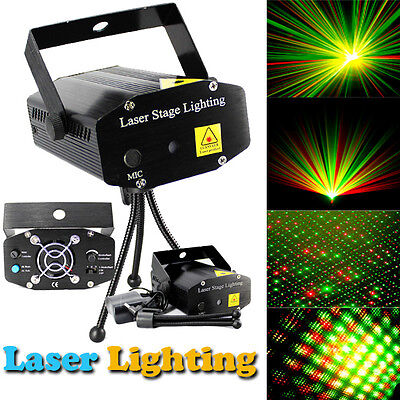 1pc Projector R&G DJ Disco Light Stage Xmas Party Laser Lighting Show Black DBK  on Rummage