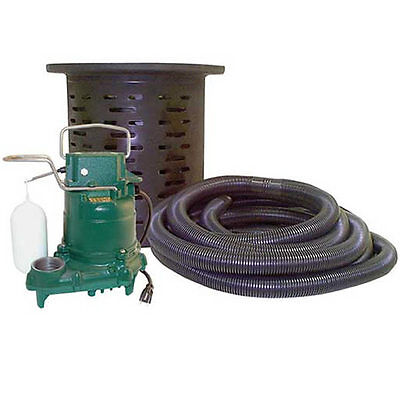 Zoeller 108-0001 - 310 Hp Cast Iron Crawl Space Pump System W 24 Hose Kit