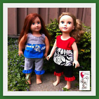 """18"""" doll Strawberry Patch outfit"""