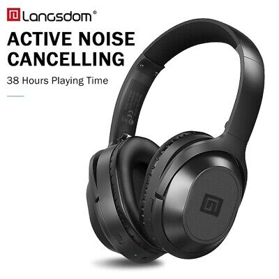 Langsdom BT25 Active Noise Cancelling Over-ear Wireless Bluetooth Headphones