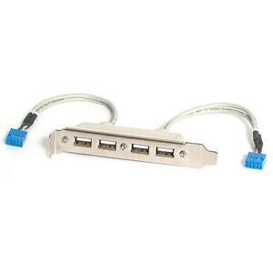 StarTech.com USBPLATE4 4 Port USB 2.0 A/Bu Slotblech Adapter