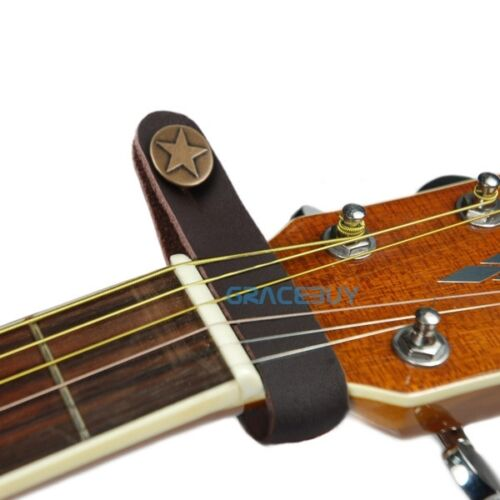 Brown Genuine Leather Guitar Strap Button Connector for Acou
