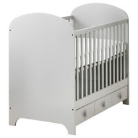 White Cot with under bed storage