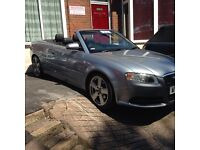 "Audi A4 2.0 Tdi S Line Convertible 2007 silver/grey metallic black leather 18"" alloys low mileage"