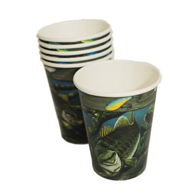 Gone Fishin' 12 oz Paper Cups 8 in a Pack Fishing Theme Cups Birthday Party (Fishing Themed Birthday Party)