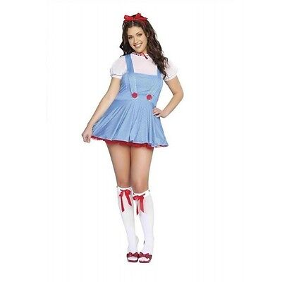NEW Cosplay Dorothy Costume Dress Wizard of Oz Blue Checked Roma 4165 Sexy M/L](Dorothy Cosplay)