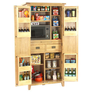 vancouver oak kitchen furniture 2 door larder food store