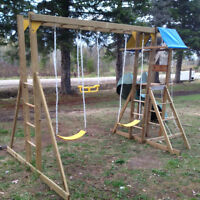 Swing Set and Slide