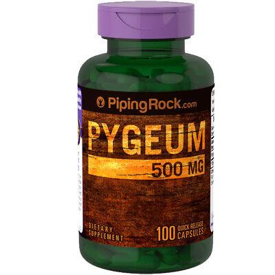 Piping Rock Premium Pygeum 500mg 100 Capsules (Pygeum africanum (bark))