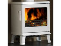 ARCTIC WHITE GLOSS ACR BIRCHDALE 5kW MULTIFUEL STOVE - ON OFFER AT FOYLESIDE PLUMBING SUPPLIES!!