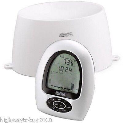 Springfield Wireless Digital Rain Gauge & Indoor/Outdoor Thermometer