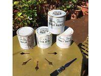 Job lot Annie Sloan chalk paint shabby chic... free chair